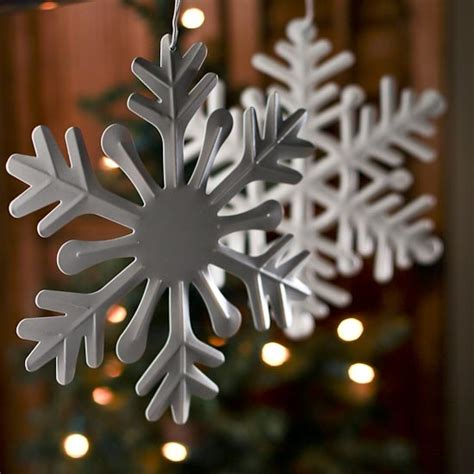 white metal snowflake ornament christmas ornaments