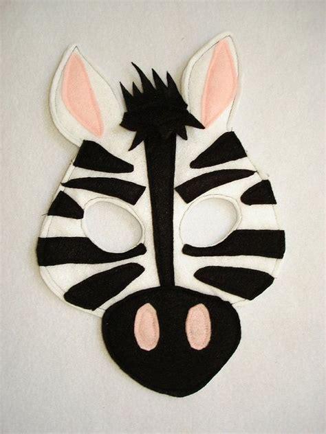 Set Of 20 Diy Paper Mask children s zebra felt animal mask our etsy shop masks