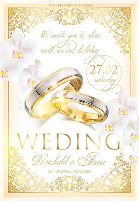 5 beautiful free wedding flyers templates utemplates