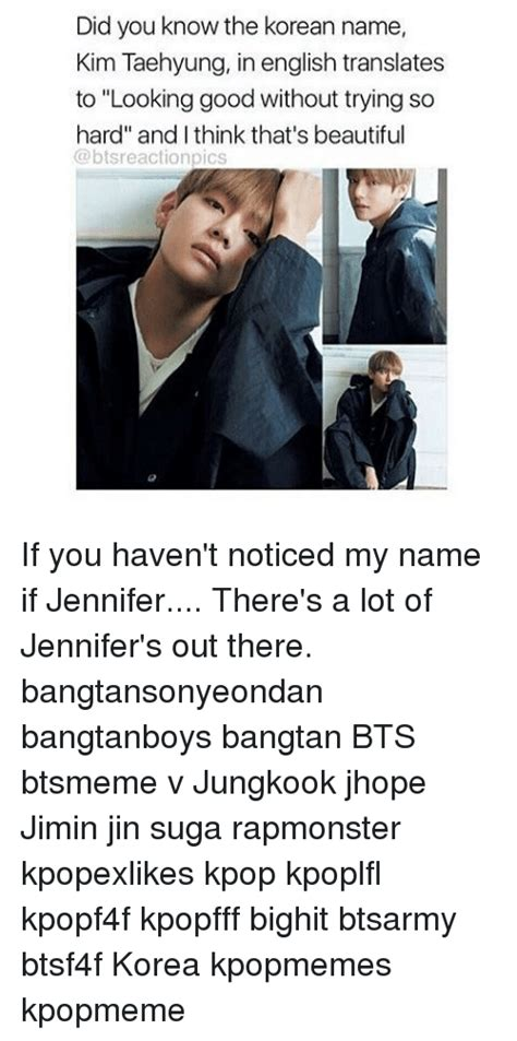 kim taehyung korean name did you know the korean name kim taehyung in english