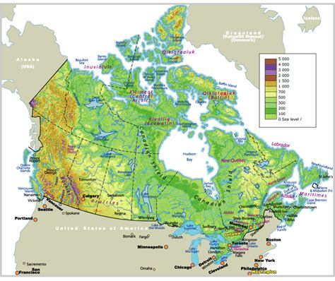 map for canada map of canada johomaps