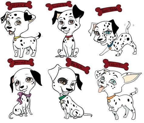 dalmatian puppy names 101 dalmatians part 1 redo by emiline729 on deviantart