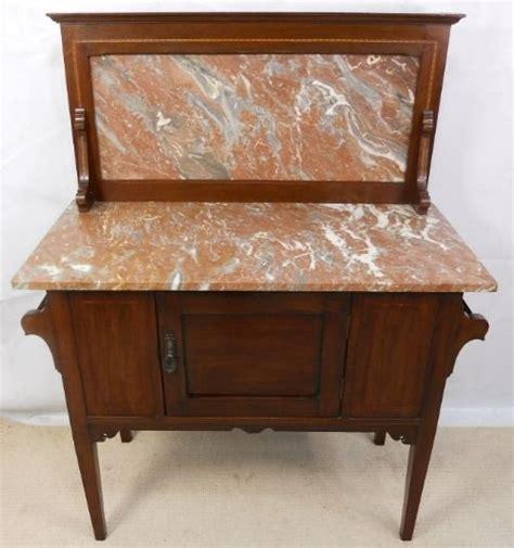 vintage marble topped washstand edwardian inlaid mahogany marble top washstand 166197 sellingantiques co uk