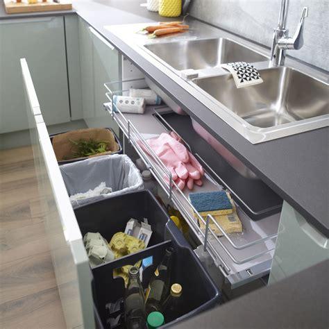amenagement meuble sous evier rangement coulissant sous 233 vier 4 poubelles pour meuble l