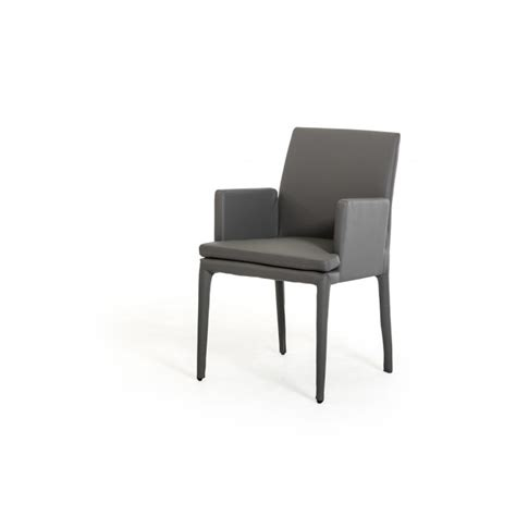 Dex Furniture by Dex Modern Grey Leatherette Dining Chair Dining Chairs Dining Room