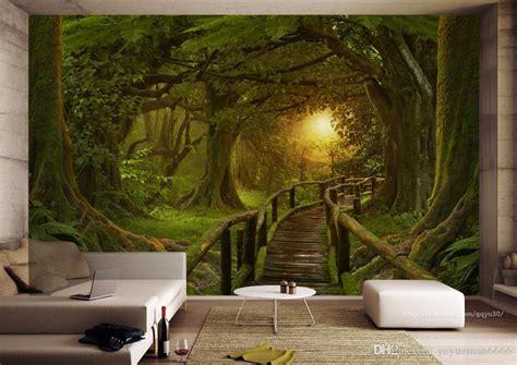 custom wallpaper  walls   photo forest wall
