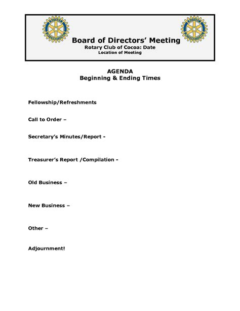 directors meeting agenda template board of directors meeting agenda template best agenda