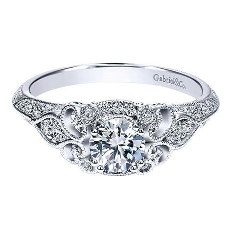 Tacori Engagement Rings Gold Floral Halo Setting by Gabriel Co Engagement Rings Floral Halo 50 Accent Diamonds