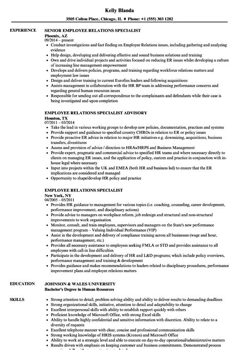 Dietitian Specialist Cover Letter by Labor Relations Specialist Sle Resume Hris Specialist Sle Resume Dietitian Specialist