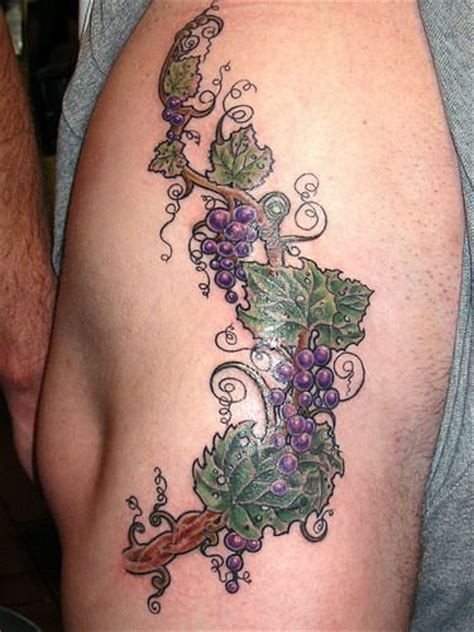 grapes vine tattoo