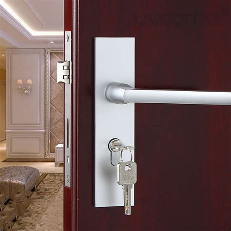 simple wood bedroom door interior locks modern
