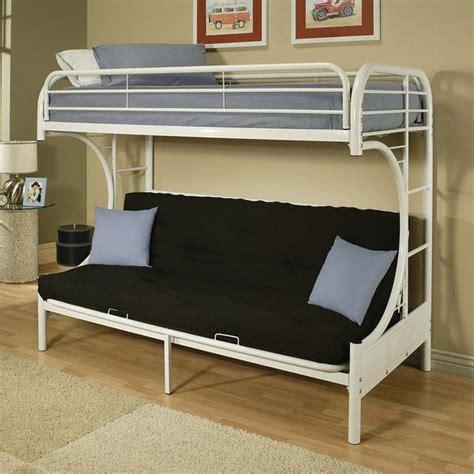 eclipse white futon bunk bed overstock