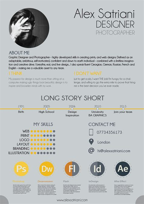 Amazing Resume Design Exles Creatives Wall How To Design A Cv Template