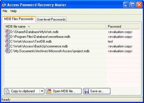 proxoft reset vba password serial access password recovery pro