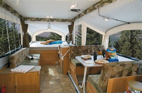 Log Home Interior Decorating Ideas by Pop Up Camper Camping Ideas Pinterest