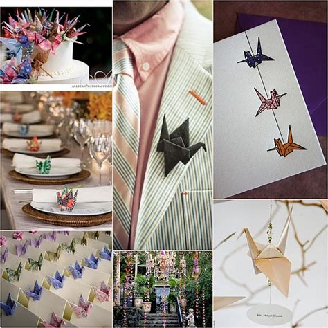 Origami Cranes For Wedding - paper crane wedding ideas wed