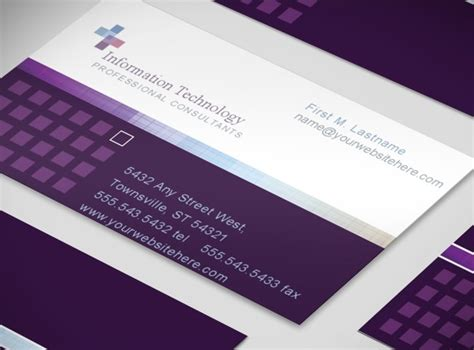 information technology business card template information technology service consultant business card