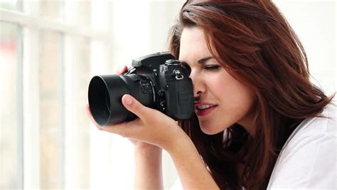 beautiful young female photographer  pictures puts