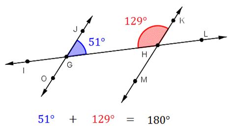 Are Same Side Interior Angles Congruent by Section One Lines And Angles Sushi Ya S Math And Stuff