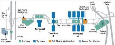 Phoenix Sky Harbor Map by Phoenix Map Airport