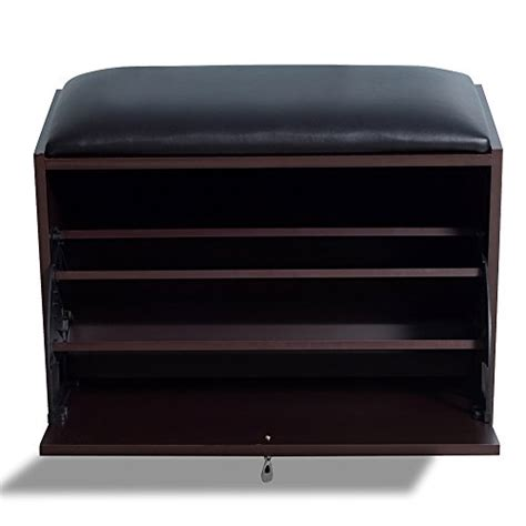 modern shoe bench gls brown modern shoe bench storage ottoman with pu