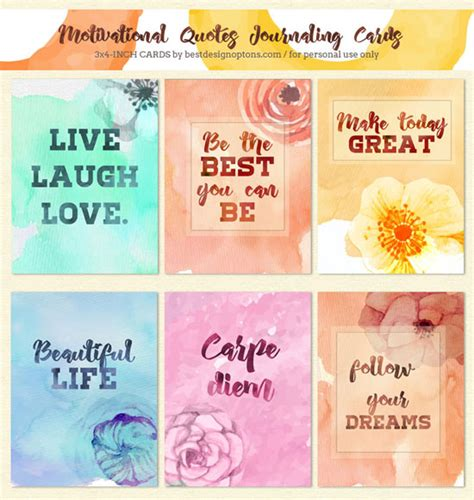 create inspirational cards template note cards with motivational quotes