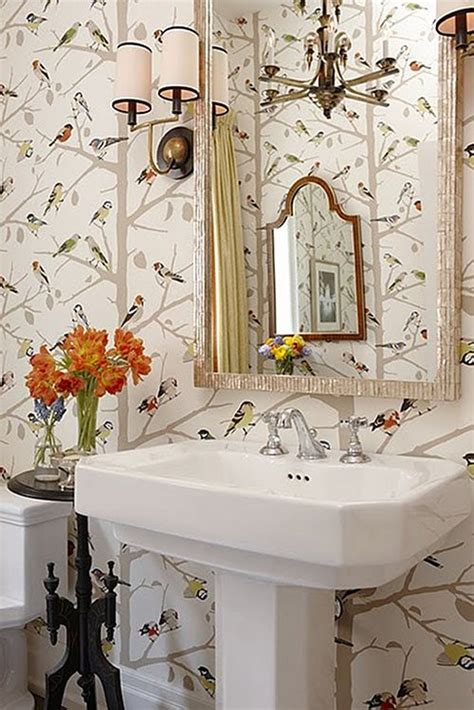 wallpaper for powder room wallpapered cloakrooms powder rooms first sense