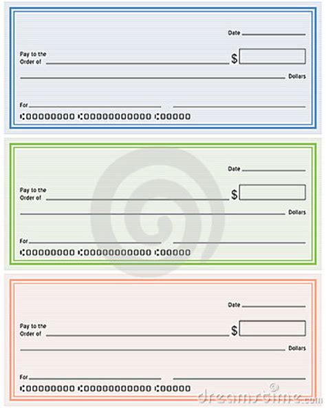 Blank Generic Bank Checks Royalty Free Stock Image Image 15084276 Blank Personal Check Template