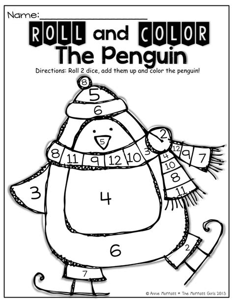penguin math coloring pages free penguin math coloring pages