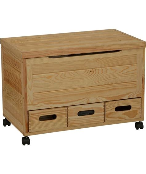 Wooden Drawers On Wheels Buy Wooden 3 Drawer Storage Chest On Wheels Pine At