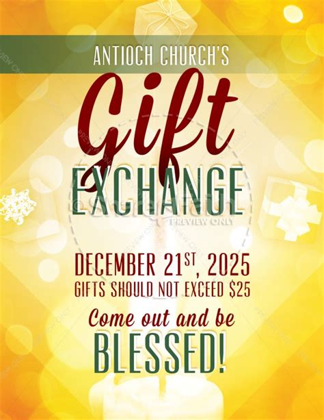 The Gift Exchange Church Flyer Template Flyer Templates Gift Flyer Template