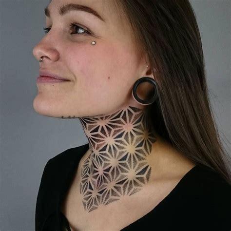 full neck tattoos artist deryntwelvetattoo finished this asanoha neck