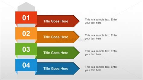 stepping design templates 4 steps text layout for powerpoint slidemodel