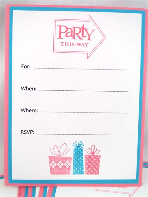 best photos of birthday invitation blank templates free