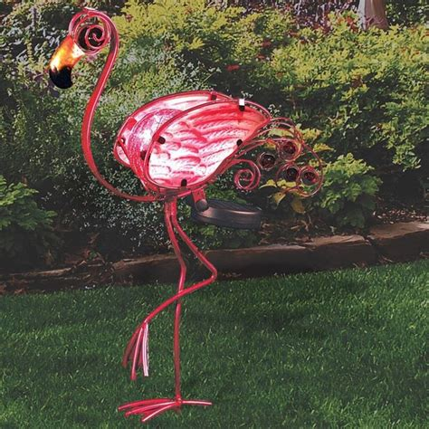 pink flamingo lights pink flamingo solar powered garden light in the yard