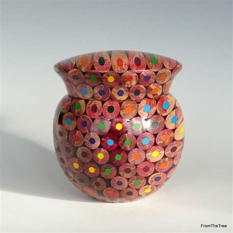 colored pencil vase colored pencil turnings woodworking talk woodworkers forum