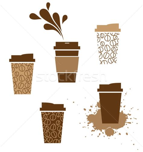 takeaway coffee cup vector illustration © kraska (#940923)   Stockfresh