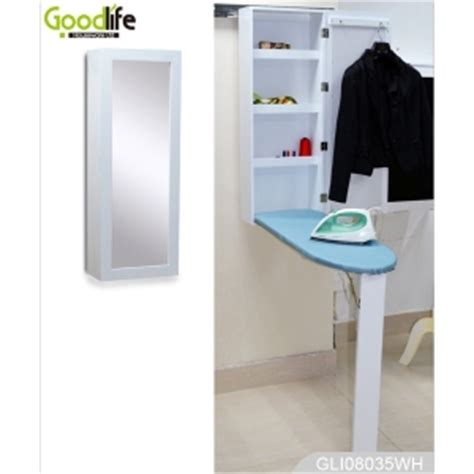 Free Standing Ironing Board Cabinet by Wall Mounted Folding Wood Ironing Board Cabinet With