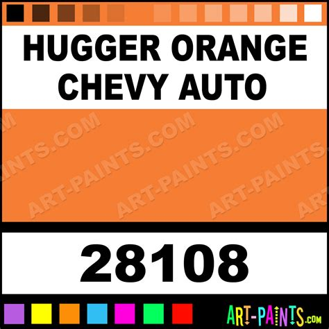 hugger orange chevy auto model metal paints and metallic paints 28108 hugger orange chevy