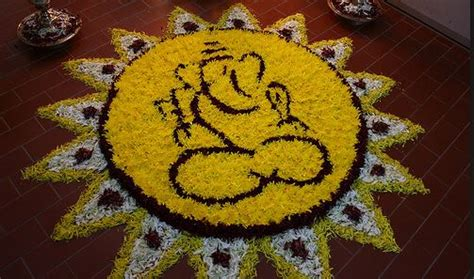 flower rangoli designs pookalam flower rangoli