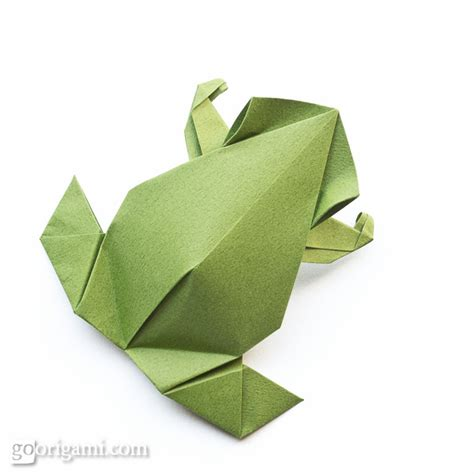 Origami Frog Tutorial - origami animals and characters gallery go origami