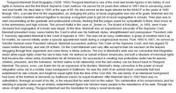 Thurgood Marshall Essay thurgood marshall biography essay at essaypedia