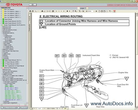 motor auto repair manual 2004 toyota echo transmission control toyota yaris echo 1999 2005 service manual repair manual order download