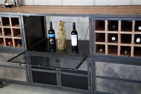 Industrial Style Bar Cabinet Buy A Crafted Reclaimed Wood Liquor Cabinet Bar Vintage Industrial Modern Style