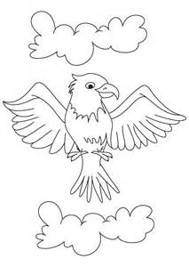 Cartoon Eagle Coloring Page  Download Free sketch template