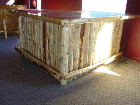 Handmade Bars - handmade cedar log bar by i saw it in minnesota