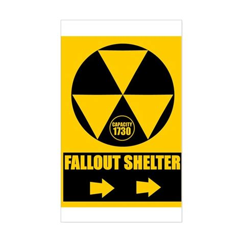 Australian Duvet Covers Fallout Shelter Sign Rectangle Decal By Falloutshleter