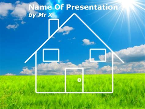 house powerpoint template house and environment protection powerpoint template