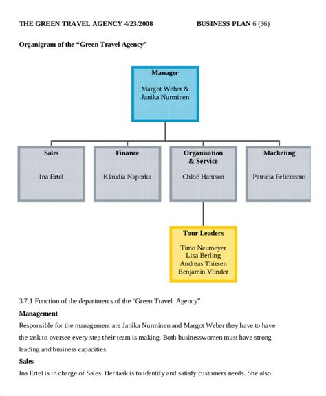 travel agency business plan template business plan template 14 free word pdf documents