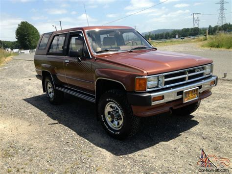 Toyota 4runner Uk 1987 Toyota 4runner 4x4 Original Condition 61 412